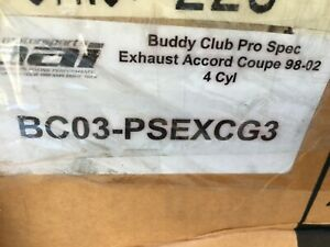 closeout Buddy Club Pro Spec Exhaust For 98 02 Accord Coupe 4cyl