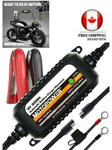 Motopower Mp00205c 12v 800ma Automatic Battery Charger Maintainer Charge