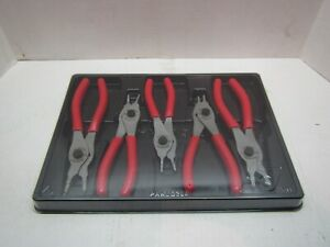 Snap on Tools Srpcr105 5 Piece Convertable Snap Ring Pliers Set Red New