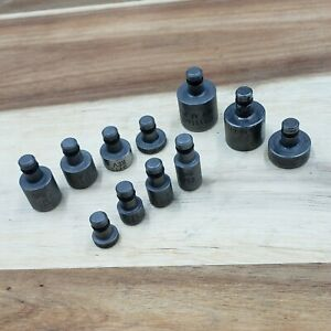 Mixed Lot Of 11 Flush 1 4 Shank Over Sized Squeeze Rivet Set Dies Aircraft Tool