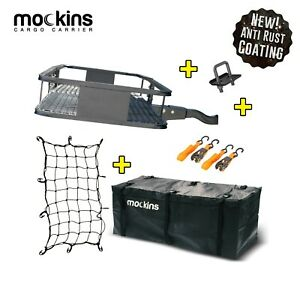 Mockins Hitch Mount Cargo Carrier Set Cargo Bag Net Car Suv Truck Luggage Van