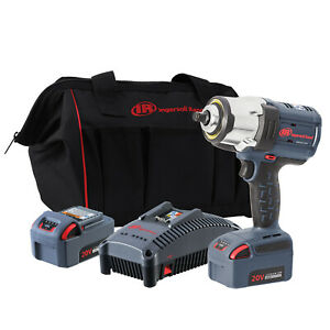 Ingersoll Rand W7152 K22 1 2 Drive Iqv20 Hd Impact Wrench Two Battery Kit New