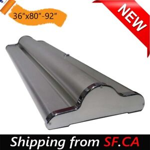 36 x80 92 1 Pack New Silver Reusable Velcro Retractable Roll Up Banner Stand