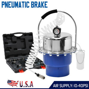 Pneumatic Air Pressure Kit Brake And Clutch Bleeder Valve System Kit Portable