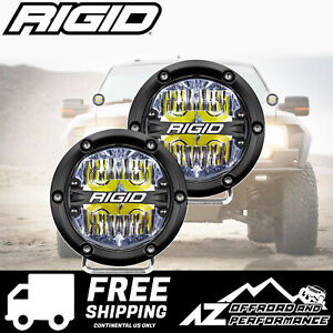 Rigid Industries 360 Series 4 in Round Led Light Bar White Driving Flood 36117