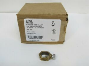 Erico Cp58 Ground Rod Clamp For 5 8 Ground Rod 8 Solid 2 Stranded 50 Pack