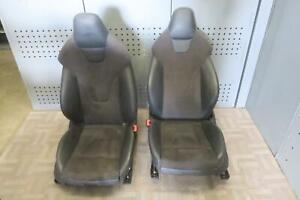 2014 Audi S4 Front Left Right Seat Set Air Bag Leather Electric Sport Seat Oem