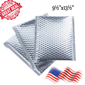 30 Pcs silver Bubble Mailers 9 5 x13 5 Metallic Glamour Self sealing Envelopes