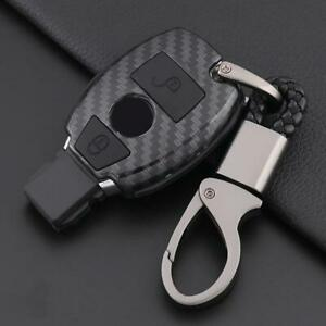 Black 2 Button Car Key Chain Case Cover Shell Fob Holder For Mercedes benz 2000