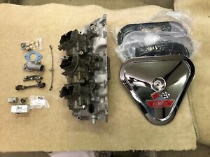 1968 1969 Corvette 427 Rect Port Tri Power 3x2 Carb Setup Complete 396 427 454