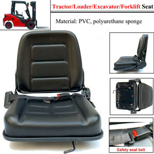 Forklift Seat With Auto Seat Lock For Tractor loader excavator Waterproof Pvc Us