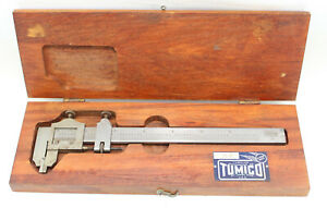 Vintage Tumico Tubular Micrometer Co No 75 6 In Wood Case