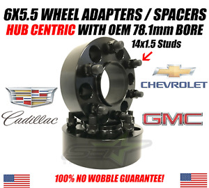 2pc 6x5 5 Wheel Spacers Hub Centric 1 5 Inch For Chevy Gmc Trucks 78 1cb 14x1 5