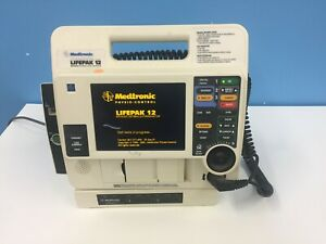 Lifepak 12 Biphasic Monitor Aed Pacer Printer Physio control With Paddles