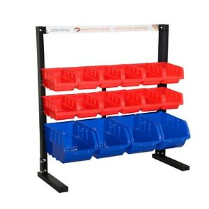 Sontax 16 Removable Storage Bins Rack Parts Accessories Organizer Cabinet Rack