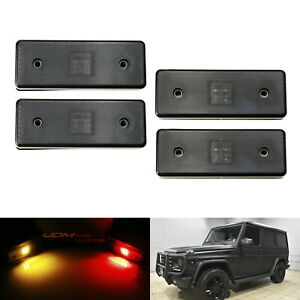 Smoked Lens Front Rear Led Side Marker Lights For 15 18 Mercedes W463 G class