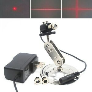 650nm 30mw Red Dot Line Cross Focusable Laser Diode Module Adapter 12mm Holder
