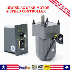 New 110v 15w 5k Ac Gear Motor Electric Motor variable Speed Controller 270 0rpm