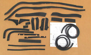 1956 Chevy Front End Sheet Metal Anti Squeek Gasket Kit 23 Pieces Usa Made