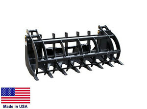 Grapple Bucket Commercial For All Skid Steers Logs Brush Rocks 7 Ft