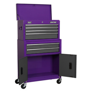 Sealey American Pro Ap2200bbcp Top Chest Roll Cab Tool Box Stack Purple