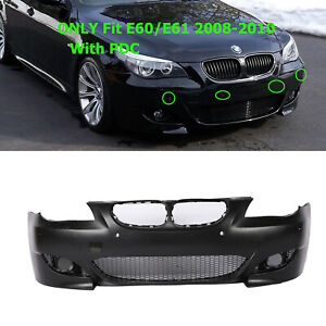 M5 Style Air Duct Type Front Bumper Cover W Pdc For Bmw 5 Series E60 E61 08 10