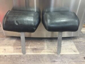 1968 72 Chevelle Cutlass Skylark Gto Bench Seat Headrest Original Black Pair