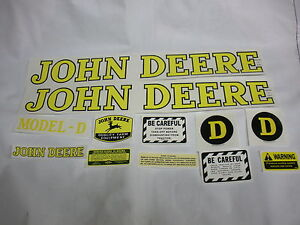 John Deere Model D 1939 Up Tractor Decal Set New Free Shipping