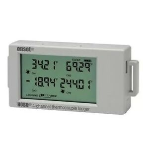 Onset Hobo Ux120 014m 4 channel Thermocouple Data Logger W Lcd Display