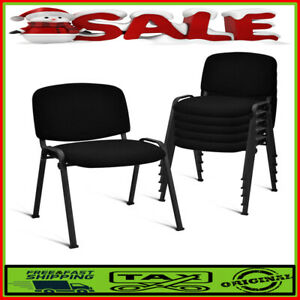 Set Of 5 Conference Chair Elegant Office Chair For Guest Reception Sturdy Black