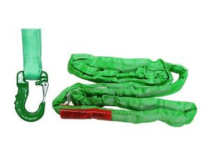 Usa Domestic Endless Round Sling Green W Hook Combo Crane Wrecker Towing