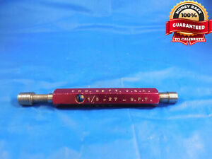 1 8 27 Npt Master Pipe Thread Plug Gage 125 1 8 27 N p t Smooth Quality
