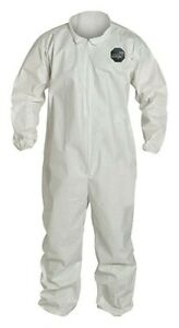 Dupont sl526bwh2x00060 Disposable Chemical Coveralls Xxl Zipper Front qty 6