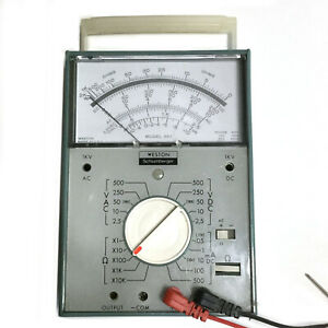 Vintage Weston Schlumberger Multimeter Model 661 With Leads Tested And Works