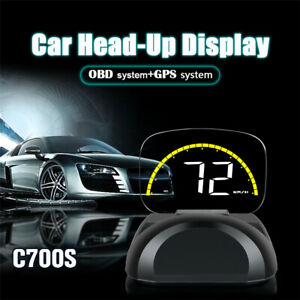 Universal Hud Projector Obd2 Gps Head Up Display Projector Car Truck Speedometer