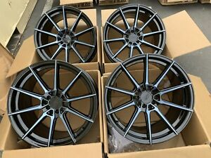 18x9 5 Xxr 567 5x100 114 3 20 Phantom Black Rims Wheels Used Set