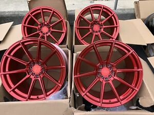 18x9 5 F 18x10 5 Xxr 567 5x100 114 3 20 Candy Red Rims Wheels Used Set