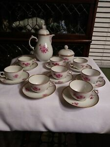 Antique Furstenberg German Porcelain Tea Set 18 Pieces Mark 1867