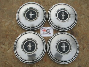 1968 Ford Mustang Poverty Dog Dish Hubcaps Set Of 4 very Rare look