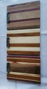 Clipboard Custom Handmade Exotic Wood Office Construction school job Site