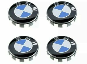 4 X New Bmw Wheel Center Cap 68mm Emblem 68mm Rim Hub Blue 1 3 5 6 7 X Z Series