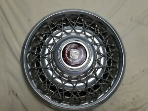 85 92 Cadillac Fleetwood Brougham Wire Hubcaps 15