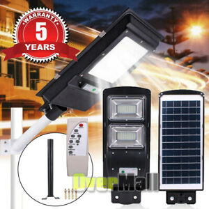 980000LM Solar Auto LED Street Light Commercial Outdoor Area Security Road Lamp $54.81