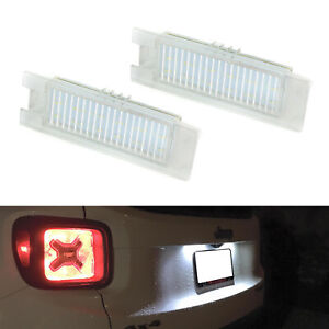 Oe fit 3w Full Led License Plate Lights For 15 up Jeep Renegade 16 up Fiat 500x