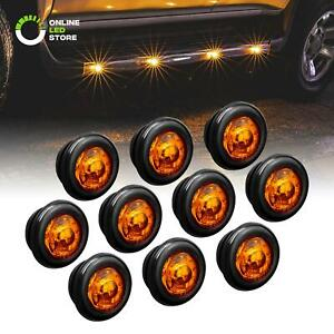 10pc 3 4 Round Dot P2pc Amber Led Bullet Clearance Marker Lights For Trailer