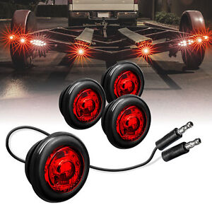 4pc 3 4 Round Dot P2pc Red Led Bullet Clearance Marker Lights For Trailer