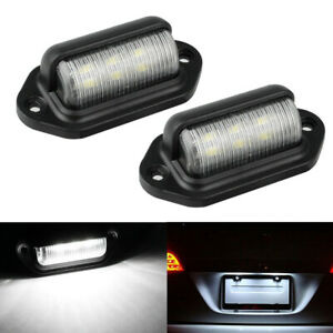 2pcs 6 Led License Plate Tag Light Boat Rv Truck Trailer Interior Door Step Lamp