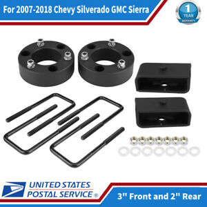 3 Front And 2 Rear Leveling Lift Kit For 2007 2018 Chevy Silverado Gmc Sierra