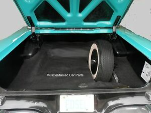 1958 Edsel Corsair Citation Rubber Trunk Mat Black Textured Grain 58