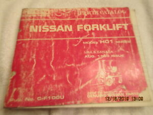 1989 Factory Oem Nissan H01 Series Forklift Lift Truck Parts Manual Book Catalog